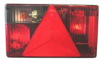 FEU AR/STOP/CLI. RECUL/EC LAIRAGE DE PLAQUE+ CONNEC DROIT 12V