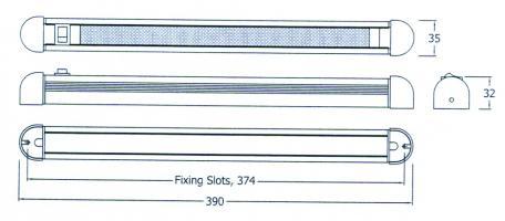 REGLETTE LED24 APPLIQUE ORIENTABLE AVEC INTERRUP. 12V/2W