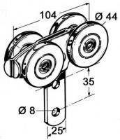 CHARIOT DOUBLE PR RAIL 50 X 40 (2752)