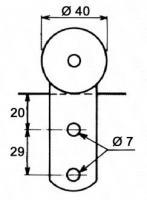 CHARIOT GALETS ACIER PR BACHE LATERALE RAIL 5O X 40 (751R)