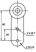 CHARIOT A GALETS NOIRS/PR rail 50 X 40 (Fruehauf)