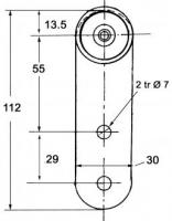 CHARIOT A GALETS POUR RAIL 35X30 (TRAILOR)