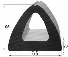 PROFIL BUTOIR 110X95 Longueur 5 m