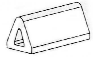 METRE PROFIL BUTOIR 85X80 Longueur 2,50m