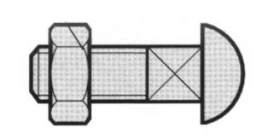 BOULON 8 X 25 COLLET CARR E ZN 55.01108FH POUR PLA. 3110177
