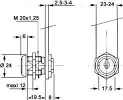 SERRURE RONIS 911 B N° 2131A S/CAME