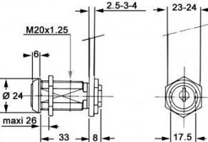 SERRURE RONIS 911C N°405 S/CAME