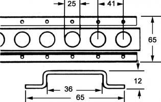LG DE RAIL D ARRIMAGE INOX 430 LONGUEUR 3.048 M