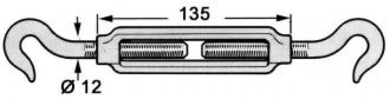 TENDEUR GALVANISE 2 CROCHETS DIA. 12 3243802S
