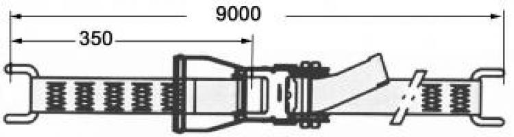 TENDEUR A CLIQUET SANGLE BLEUE LARGEUR 50MM LG 9M