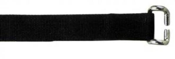 SANGLE BAS DE RIDEAU LG 800 mm NOIRE crochet bord de rive