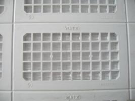 GRILLE 140X50MM PLASTIQUE BLANC AVEC MOUSTIQUAIRE