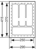 RANGE-COUVERTS PLASTIQUE BLANC 290X440MM