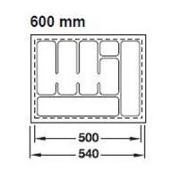 RANGE-COUVERTS PLASTIQUE BLANC 560x498MM