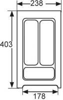 RANGE-COUVERTS PLASTIQUE BLANC 238x404MM