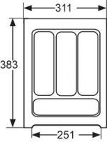 RANGE-COUVERTS PLASTIQUE BLANC 312x384MM