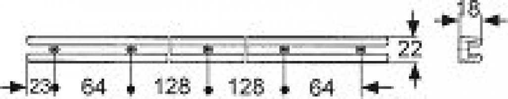 COULISSE DE TIROIR LG 430MM PLASTIQUE BLANC