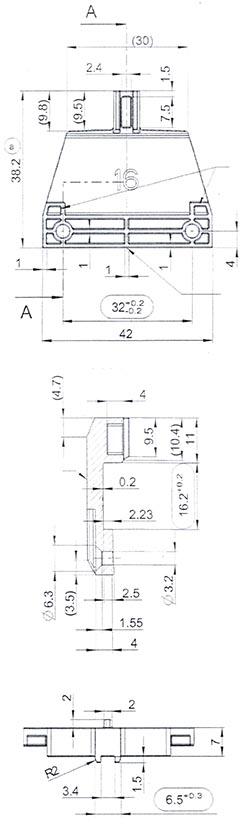 HomeDecTime Voltm/ètre /à Panneau Analogique De Mesure Rectangle Jauge 85C1 Testeur De Courant 0-50 Volts 0-5 V