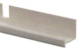 RAIL I  12x11x6MM PLASTIQUE BLANC DECOUPE (Lg de 5m00)