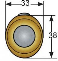 POINT PUSH MP-05-122-11 OVALE CHROME