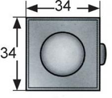 POINT PUSH MP-05-212-11 CARRE CHROME
