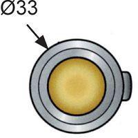 POINT PUSH MP-05-312-11 ROND CHROME