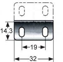 GACHE M1-519-4 ACIER INOXYDABLE POUR POINT PUSH