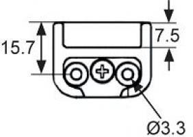 GACHE MP-5113 PLASTIQUE NOIR POUR POINT PUSH