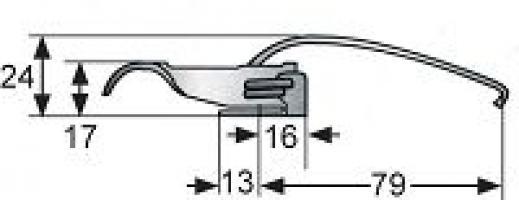 GRENOUILLERE V3-0072-07 ACIER CHROME CAME LONGUE