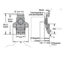 GRENOUILLERE ROTATIVE K5-2857-07 ACIER ZINGUE