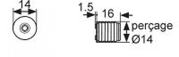 LOQUETEAU MAGNETIQUE 2.5 0 3.5 KGS PLASTIQUE BLANC
