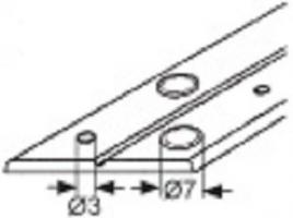 CHARNIERE PIANO LO 30MM PLASTIQUE BLANC PERCEE (Rl de 25m)