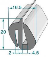 PROFIL COMPACT POUR GLACE RL 25 M