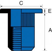 ECROU ACIER TP M6.30 SER.0.5/3.0MM-Ecrous à sertir