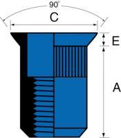 ECROU ACIER TF M 10.45 SER. 1.5-4.5 MM B100