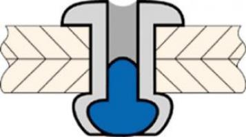 RIVET TP 3.2 X 10 ALU NOIR SER. 5.5/7.0 MM