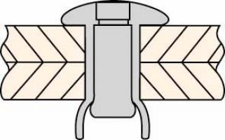 RIVET MONOLOCK ACIER TP 4.8 X10.5 SER.1.6/6.8 MM